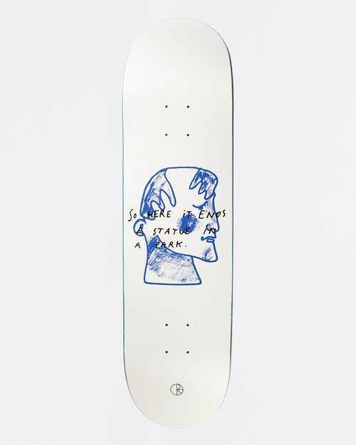 Polar Polar Team Deck I Prefer Marble White 8,5 inch