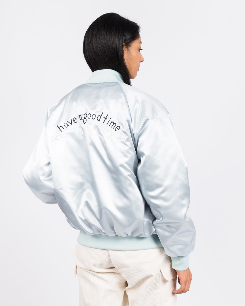 HAVE A GOOD TIME Have A Good Time Club Stadium Jacket Silver