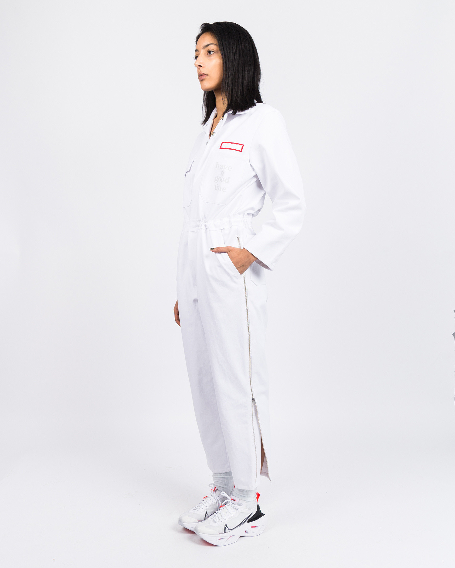 Have A Good Time All-In-One Jumpsuit Cream