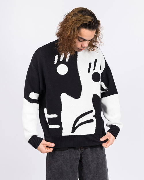 Polar Polar Art Knit Sweater Alv Black