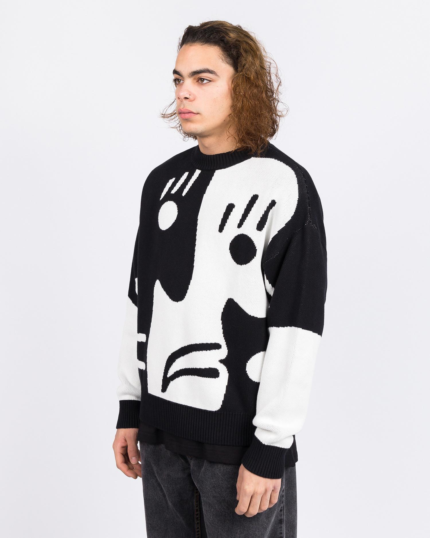 Polar Art Knit Sweater Alv Black