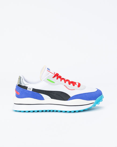 "Puma Puma Style Rider ""Ride On Pack"" White/Blue/High Rise"