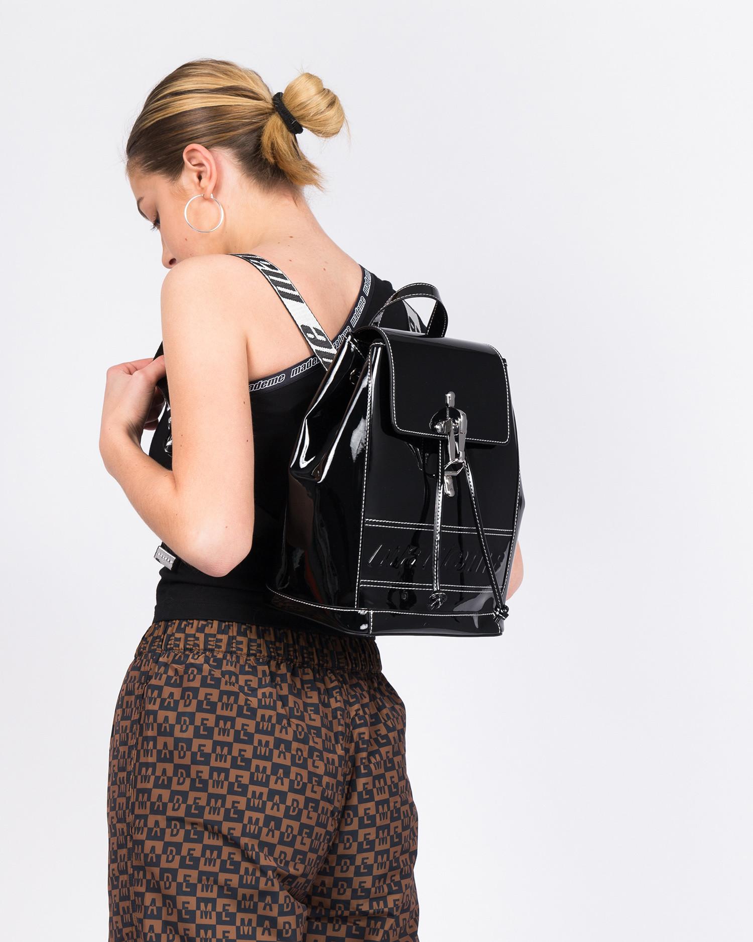 MadeMe Back Pack Black Patent