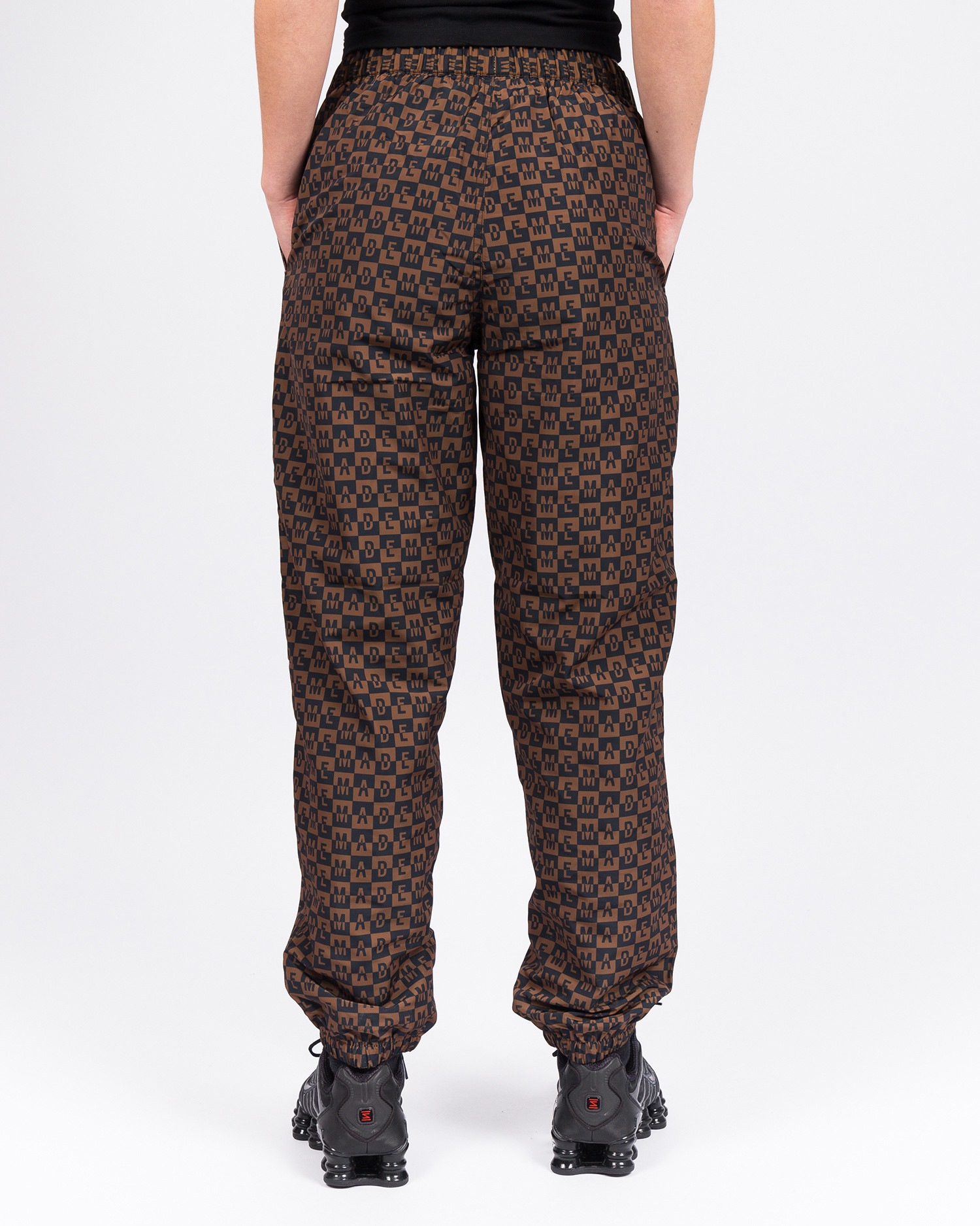 MadeMe Checkered Logo Track Pant Brown