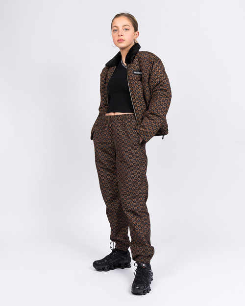 Made Me MadeMe Checkered Logo Track Pant Brown