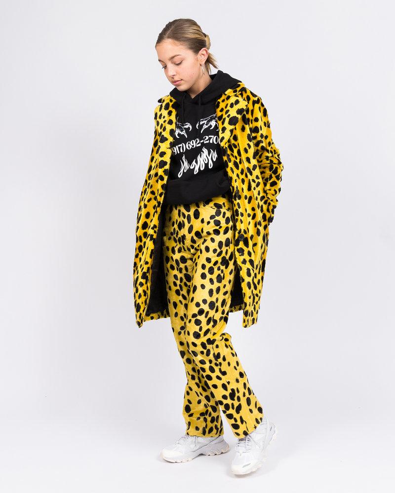 Made Me MadeMe Dalmatian fur coat Yellow