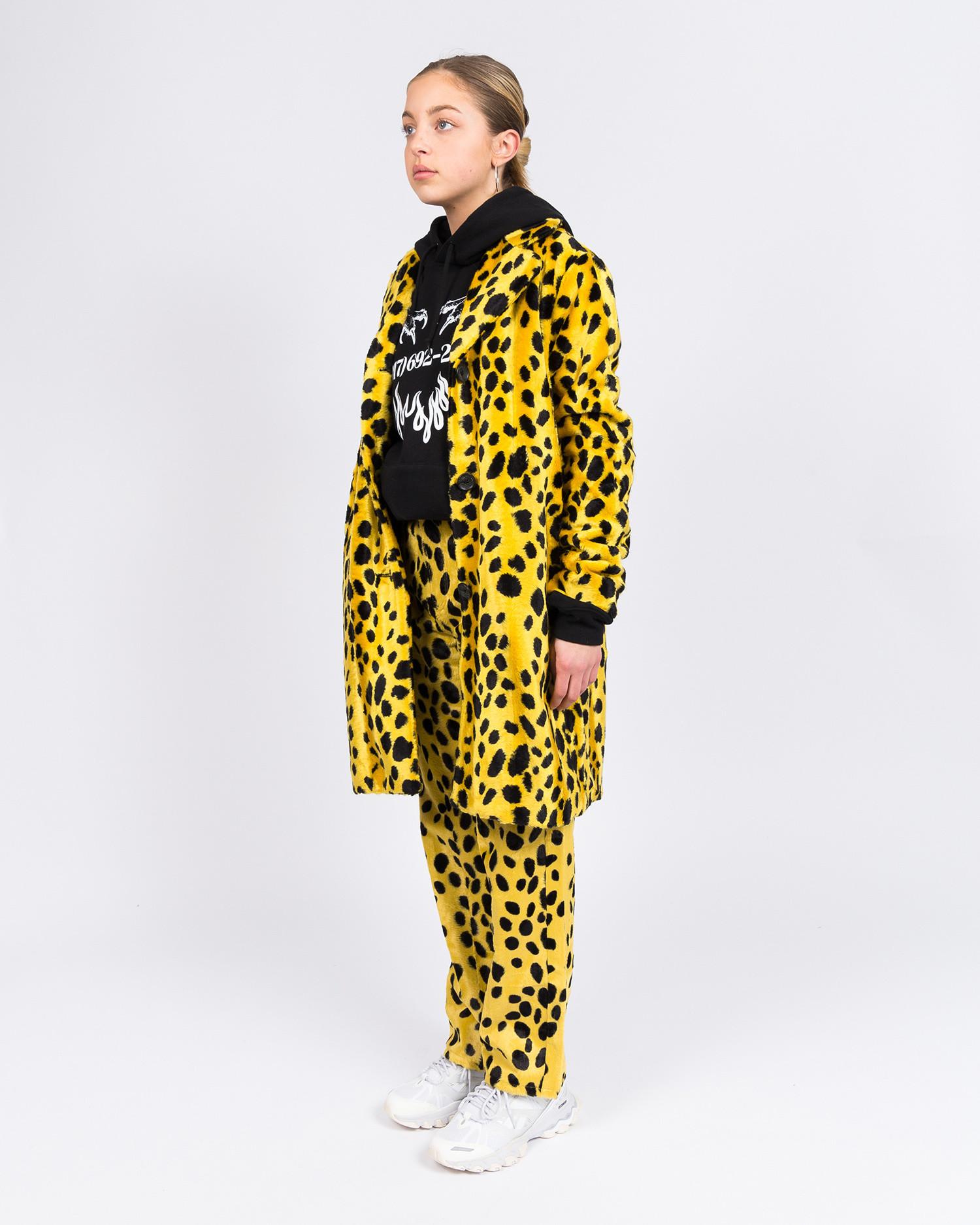 MadeMe Dalmatian fur coat Yellow