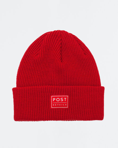 Post Details Post ABC Classic Beanie V7 Scarlet Red