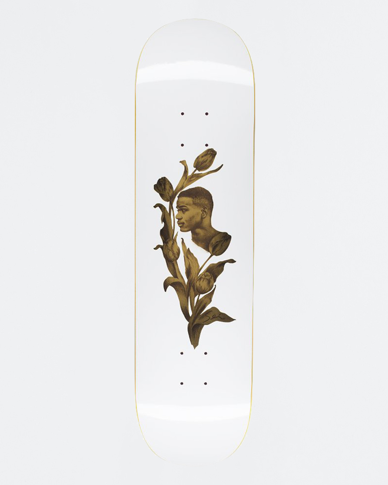 Fucking Awesome Deck Flowers White 8.38