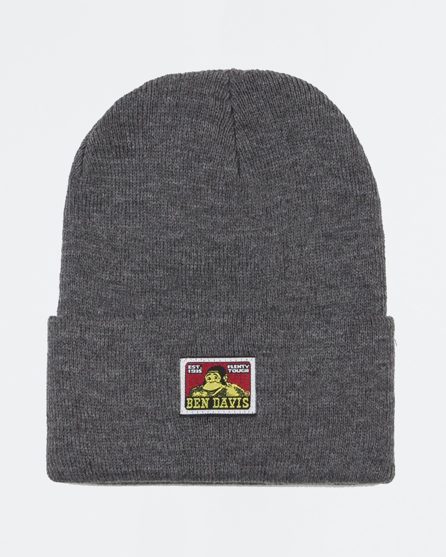 Ben Davis Beanie With Logo Charcoal Heather