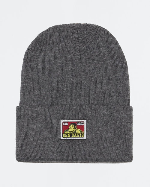 Ben Davis Ben Davis Beanie With Logo Charcoal Heather