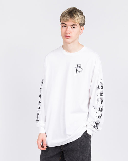 Fucking Awesome Fucking Awesome Block Letters Longsleeve White
