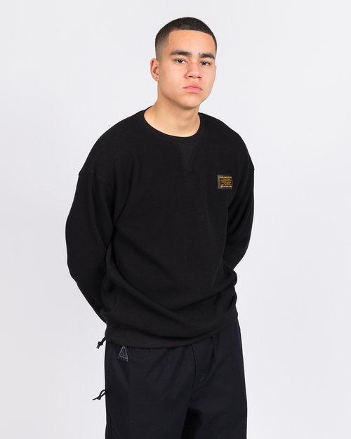 Patta Patta Military Wafle Crewneck Sweater Black