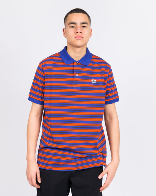 Patta Patta Striped Shortsleeve Clematis Blue