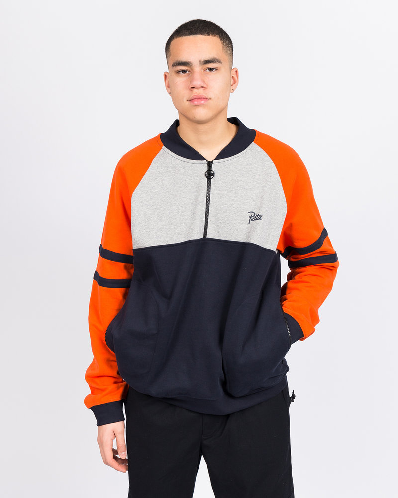 Patta Patta Half Zip Crewneck Sweater Sky captain