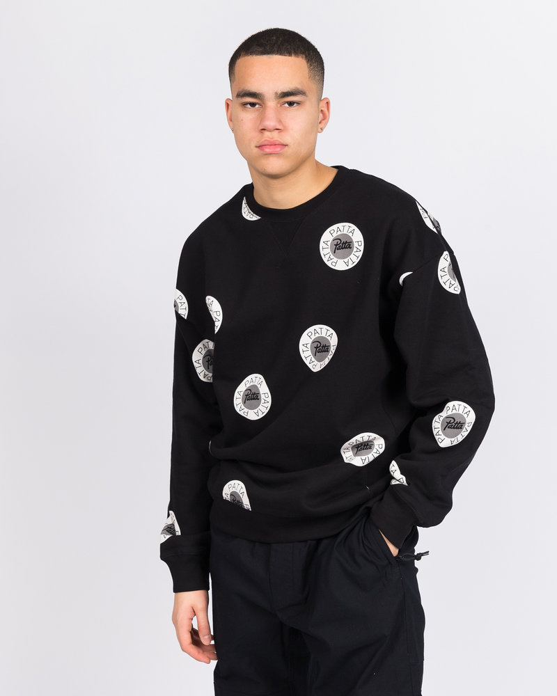 Patta Patta Emblem Crewneck Sweater Black