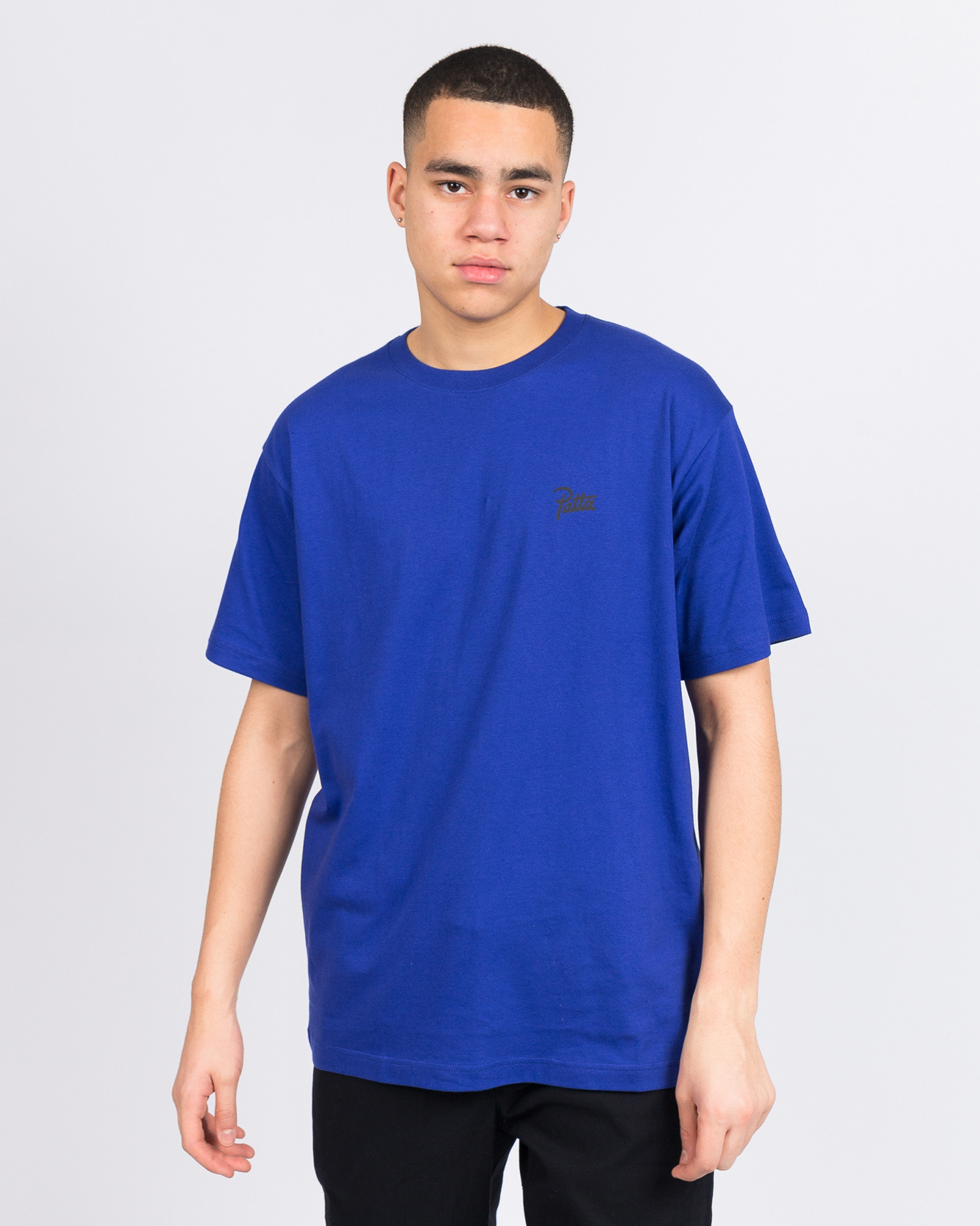 Patta Stay High T-Shirt Clematis Blue Black