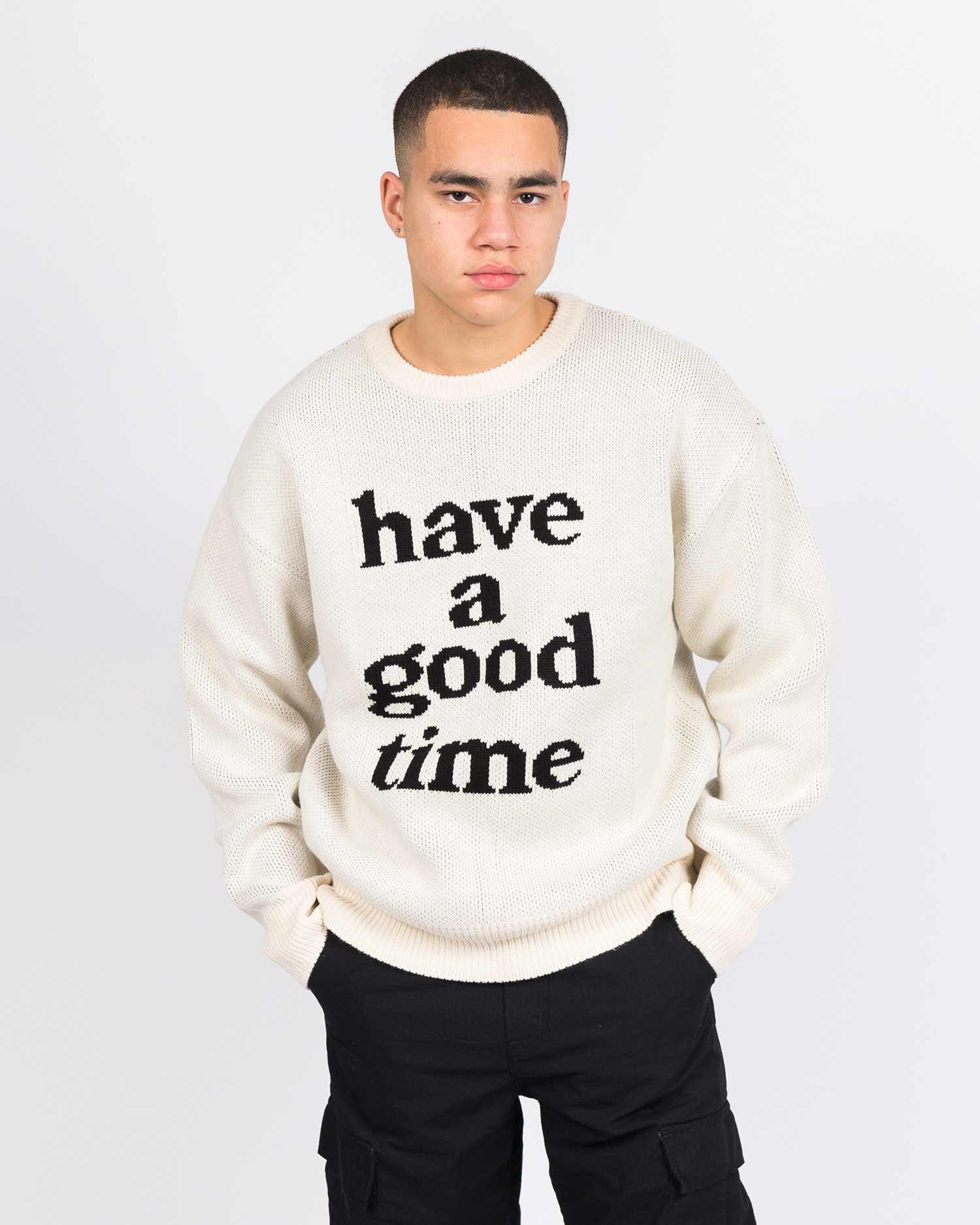 Have A Good Time Knit Sweater Cream