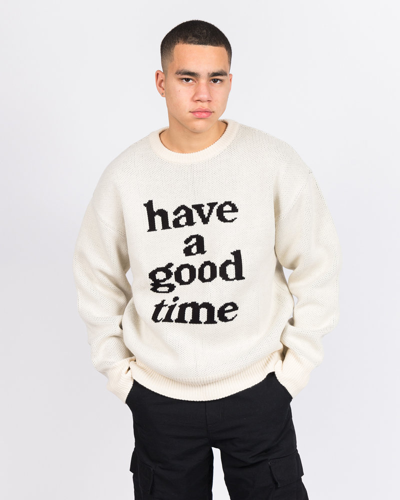 HAVE A GOOD TIME Have A Good Time Knit Sweater Cream
