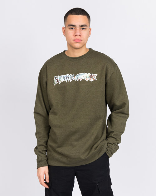 Fucking Awesome Fucking Awesome Extinction Crewneck Army Heather