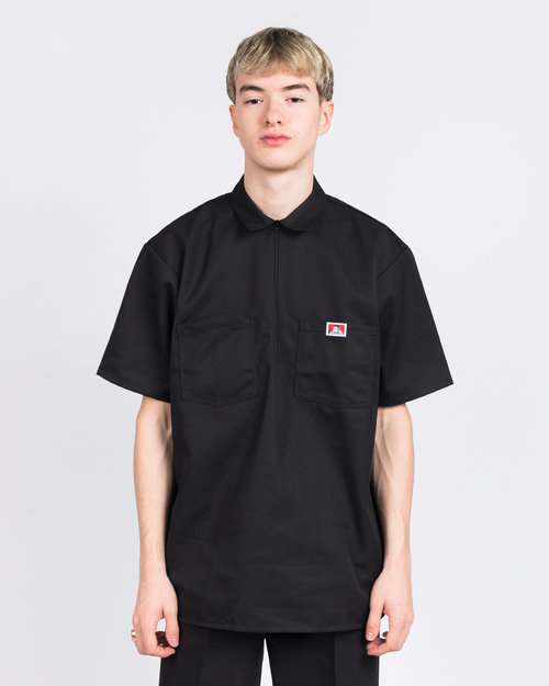 Ben Davis Ben Davis 1/2 ZIPPER SHORT SLEEVE BLACK