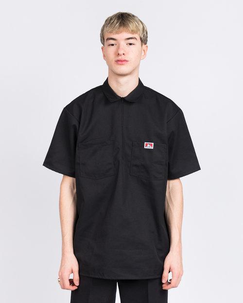 Ben Davis Ben Davis Half zipper short sleeve Black