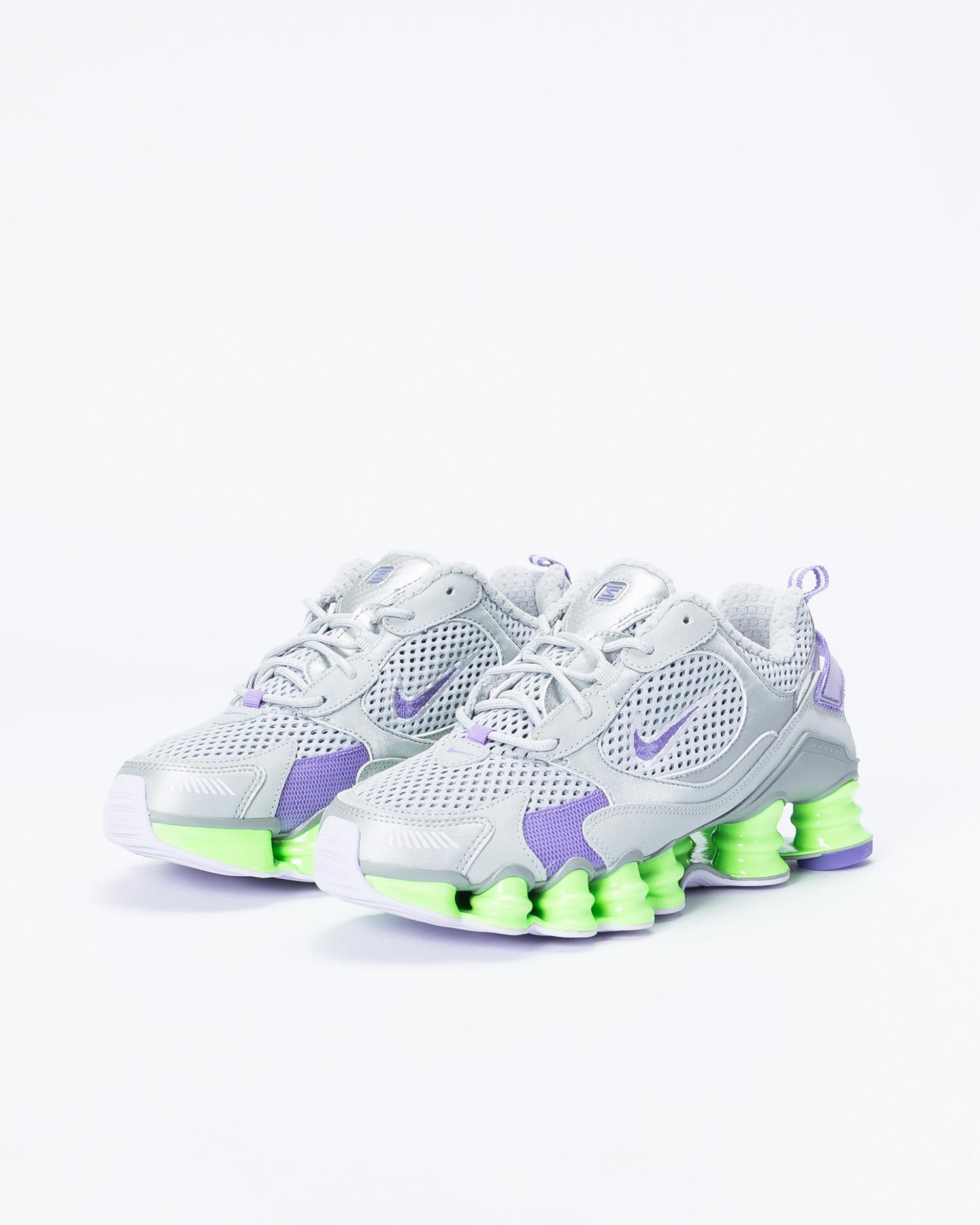 Nike womens shox tl nova Mtlc platinum/metallic silver-lime blast