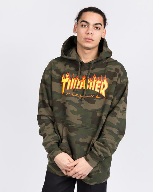 Thrasher Thrasher Flame Hood Forest Camo