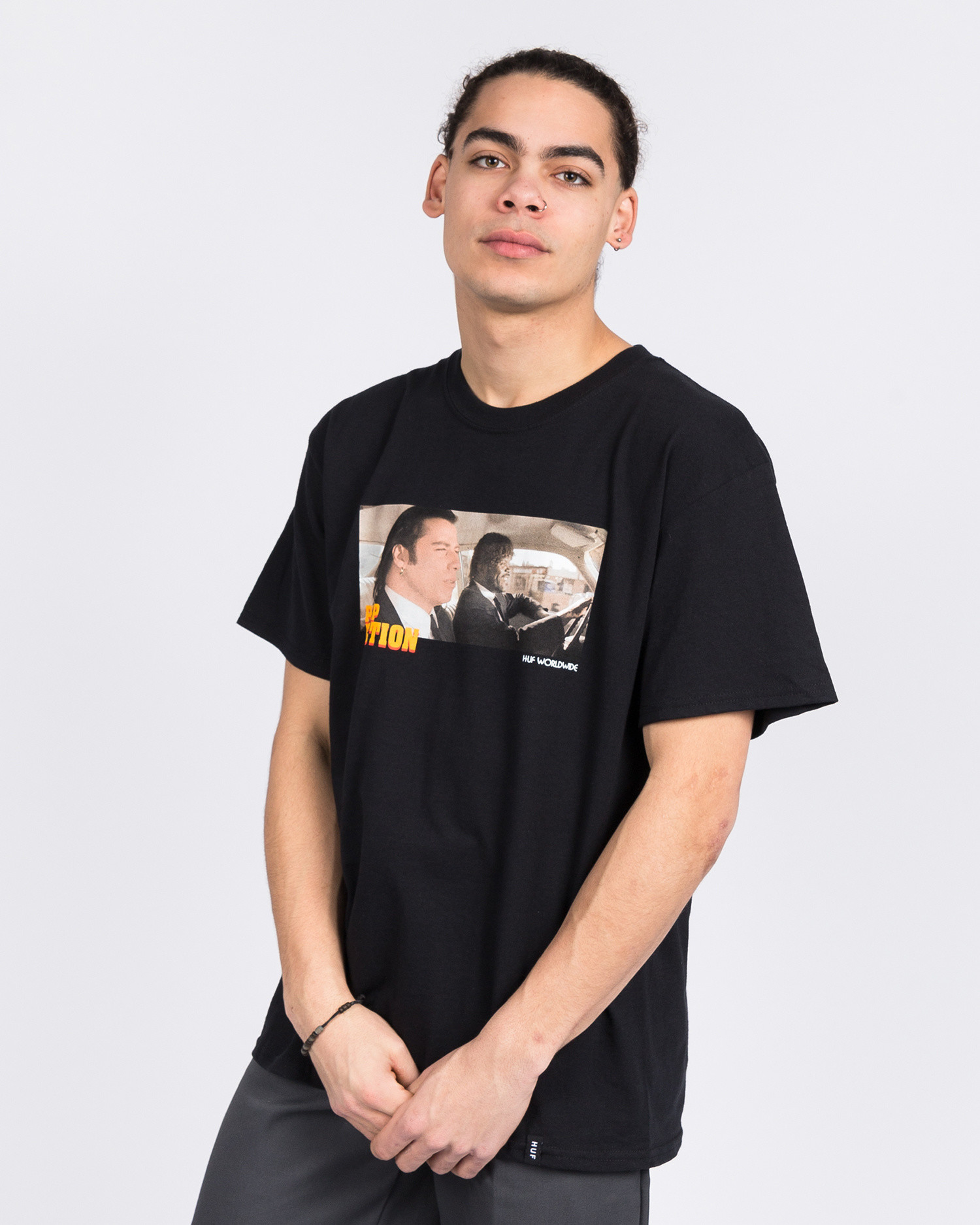 Huf Royale With Cheese Shortsleeve Tee Black