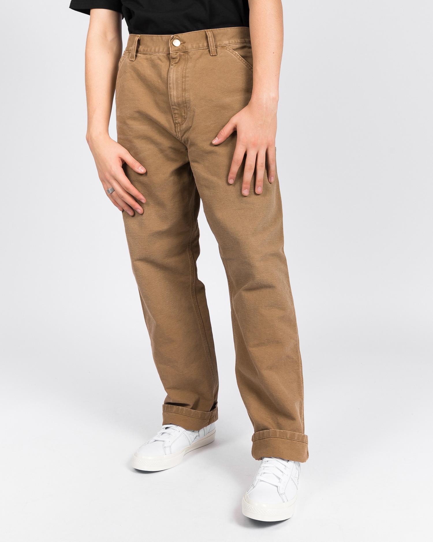 Carhartt Single Knee Pant 100% Organic Cotton Hamilton Brown, aged canvas