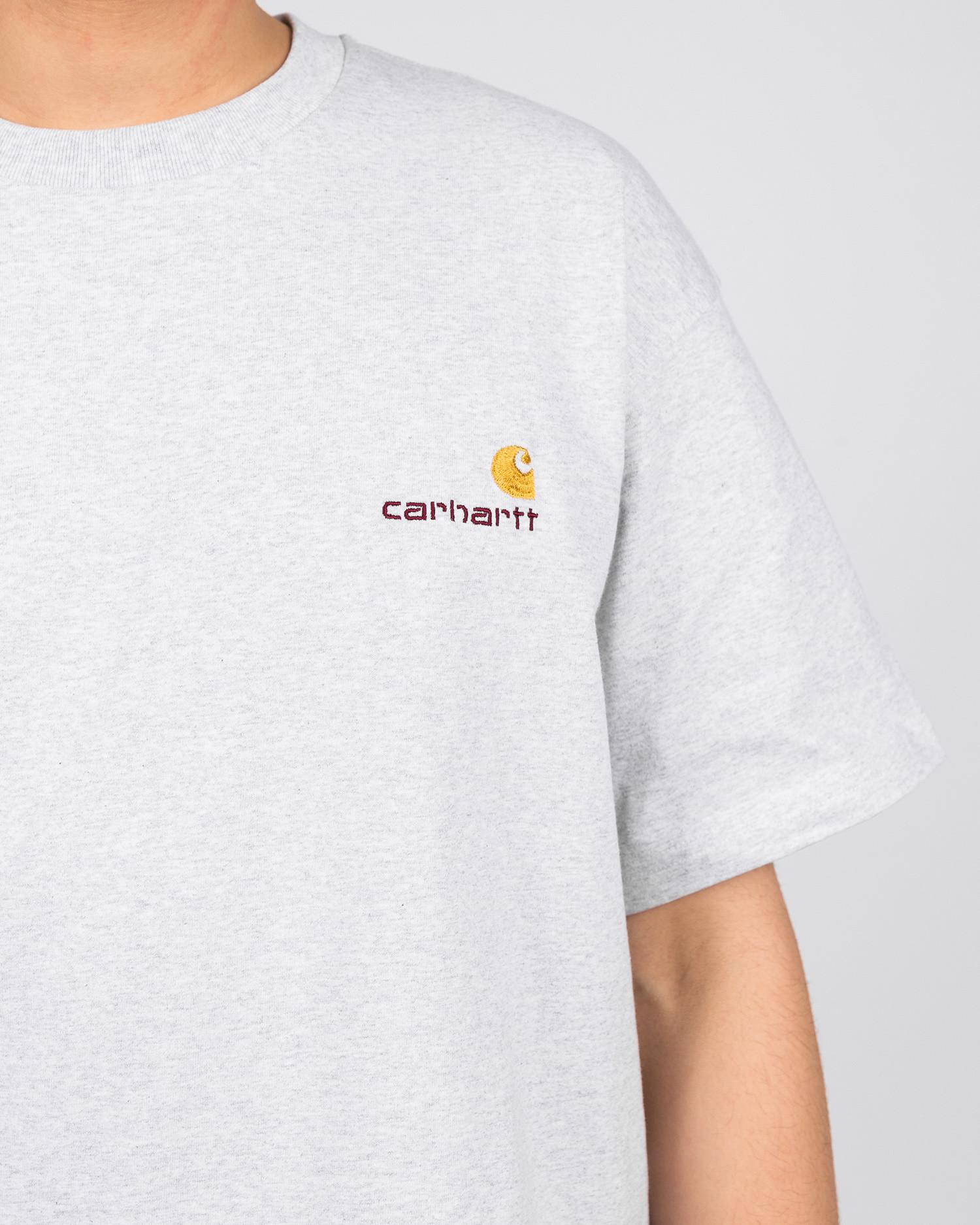 Carhartt American Script T-Shirt Ash Heather Grey