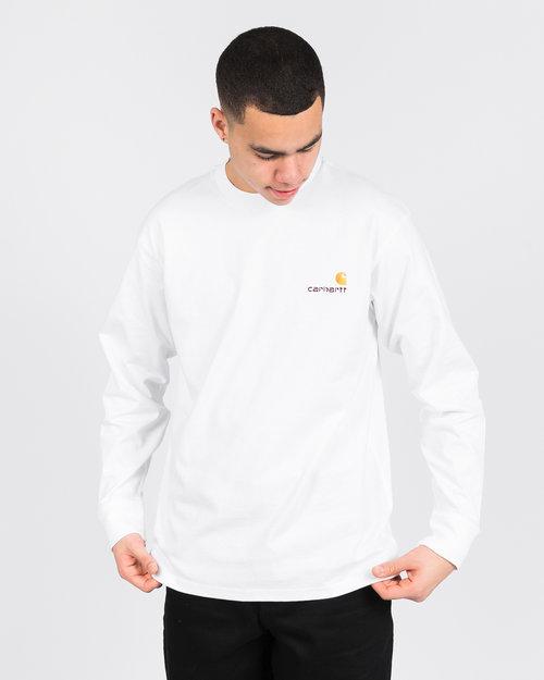 Carhartt Carhartt American Script Longsleeve T-shirt White