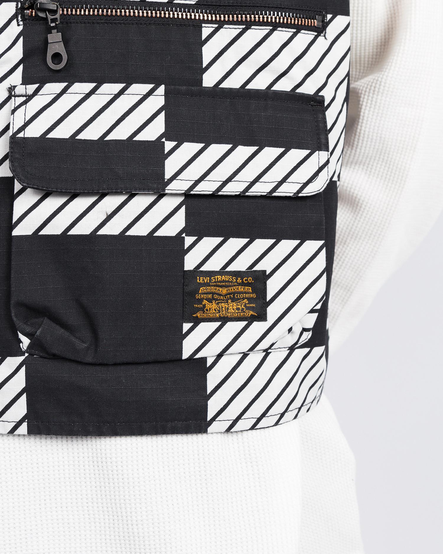 Levi's Skate Utility Vest SE Kelly Checkers Black/White