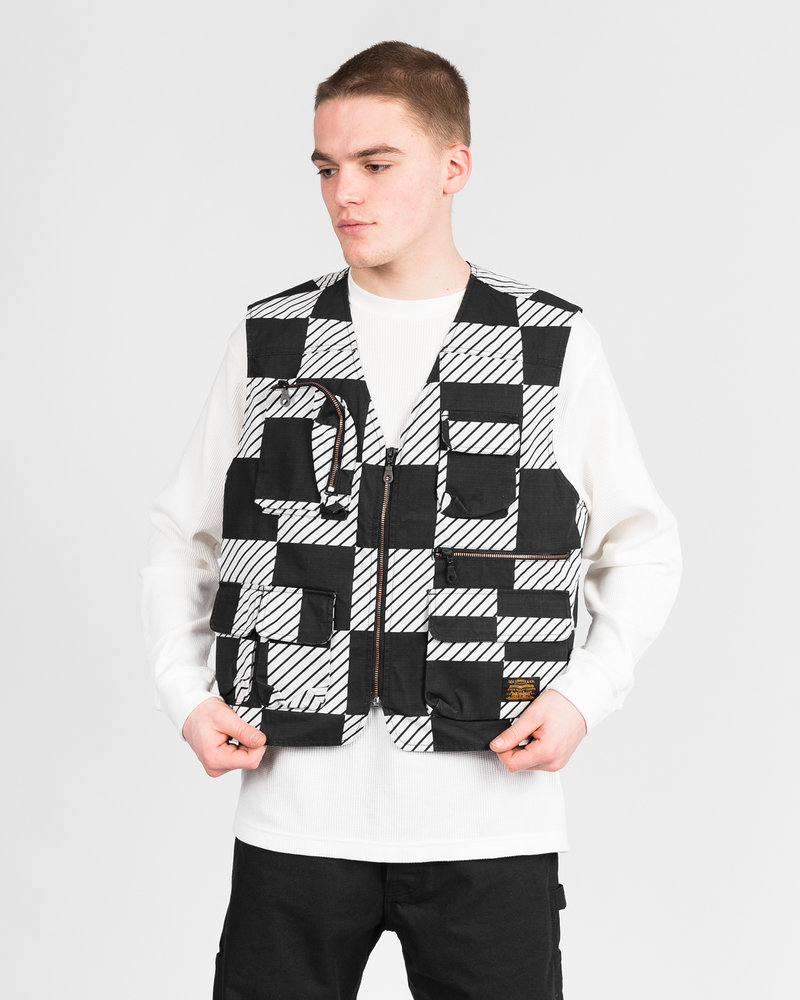 Levis Levi's Skate Utility Vest SE Kelly Checkers Black/White