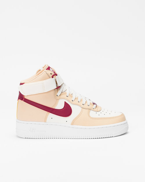 Nike Nike Wmns Air Force 1 High White onyx/noble red-pale ivory-white