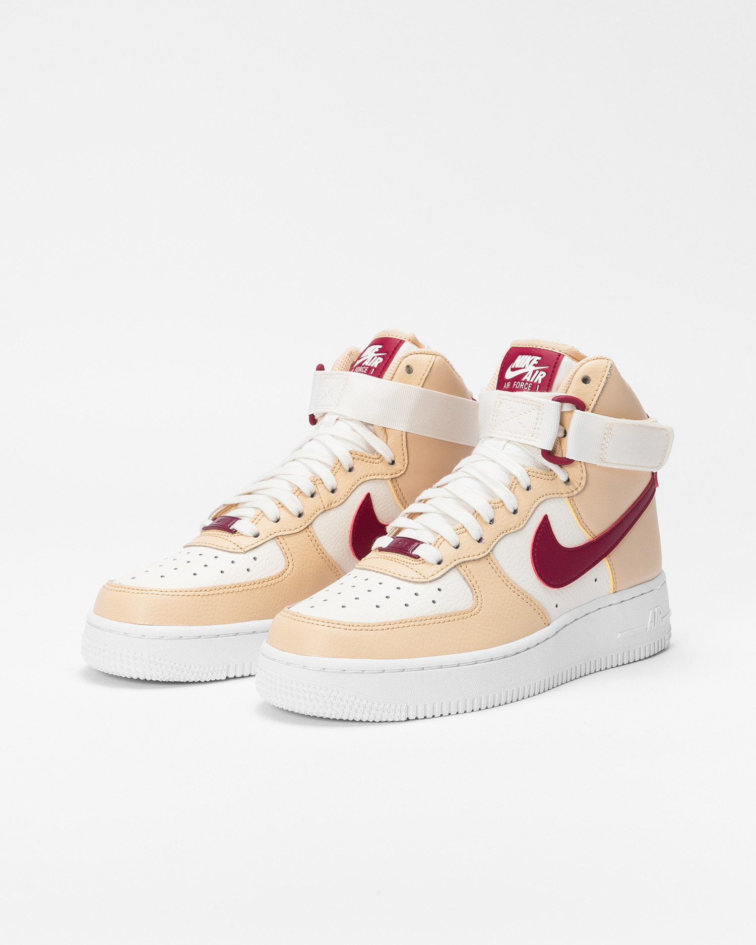 Nike Wmns Air Force 1 High White onyx/noble red-pale ivory-white