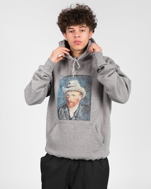 Pop Trading Co Pop Trading Co X Van Gogh Hooded Sweat Heather Grey