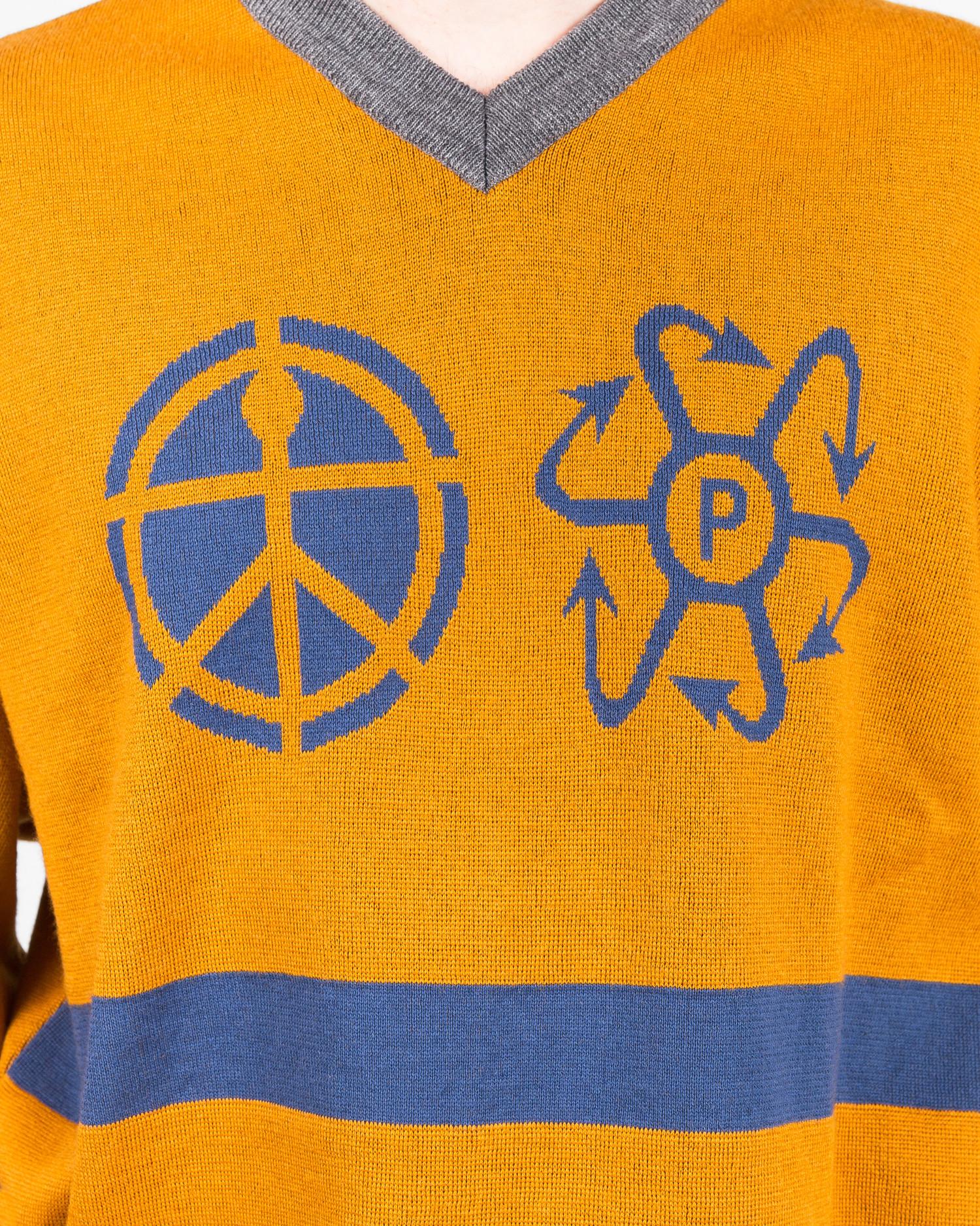 Paccbet Stripe Sweater Yellow