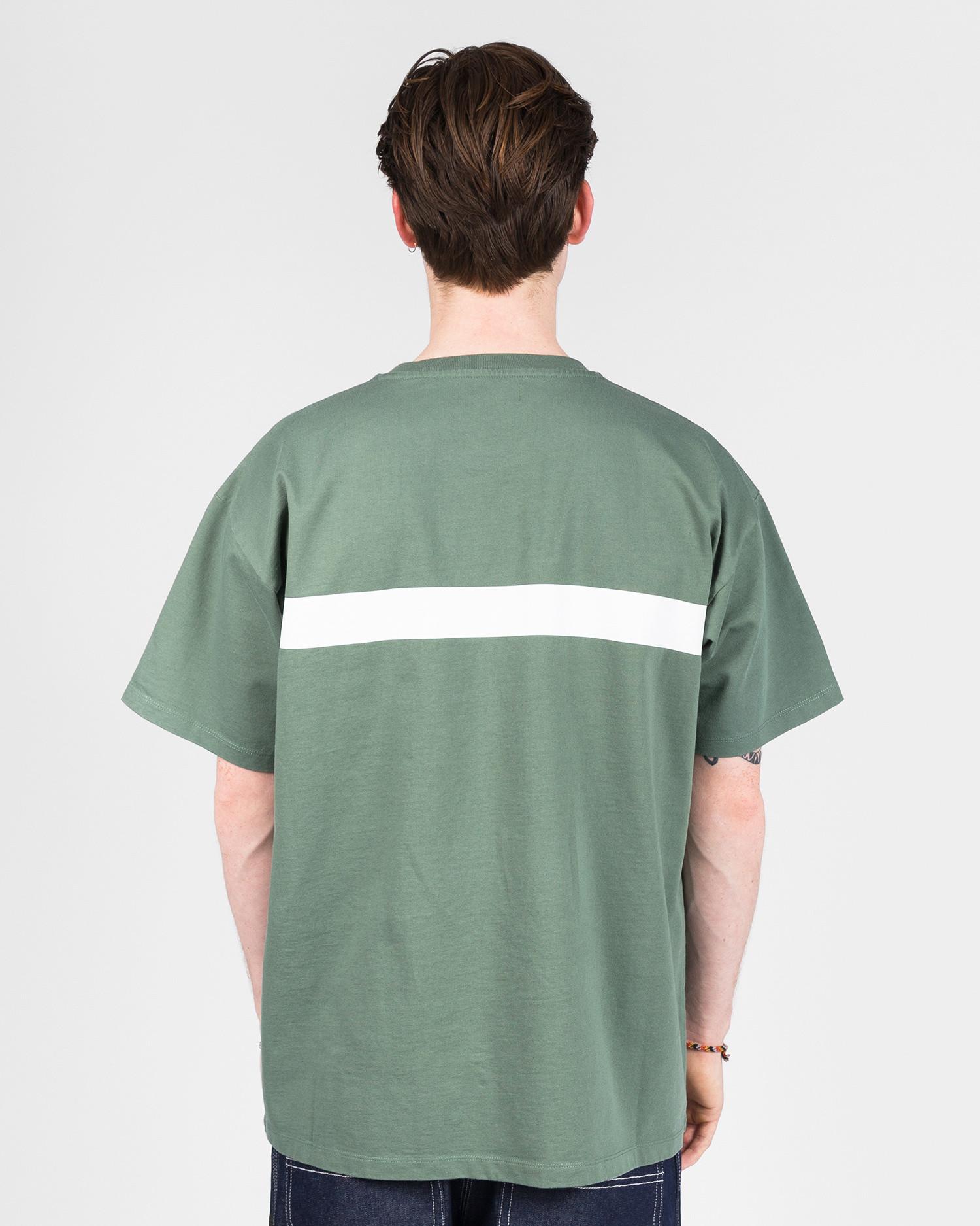 Paccbet Print Stripe T-shirt Teal