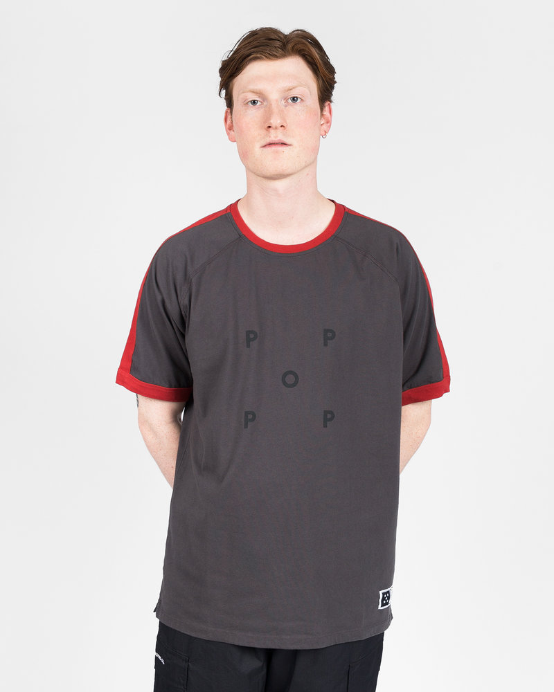 Pop Trading Co Pop Trading Co keenan t-shirt charcoal/pepper red