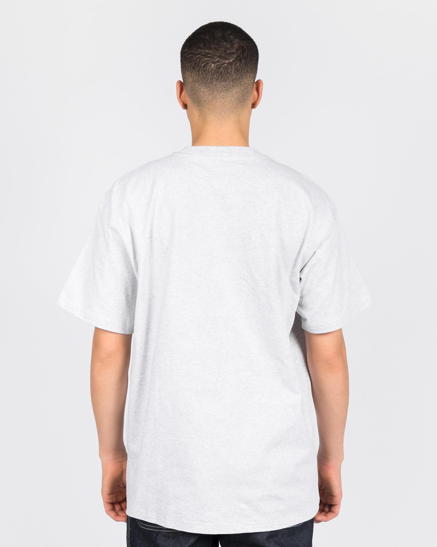 Carhartt American Script T-Shirt Cotton Ash Heather