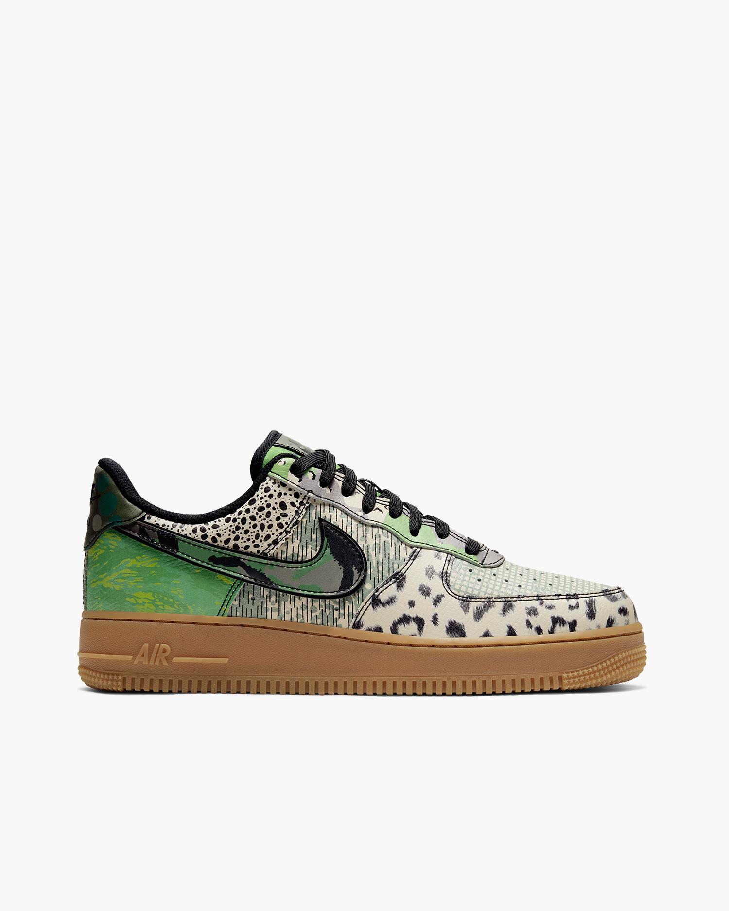 Nike Air Force 1'07 City of Dreams QS Black/black-green spark-gum light brown