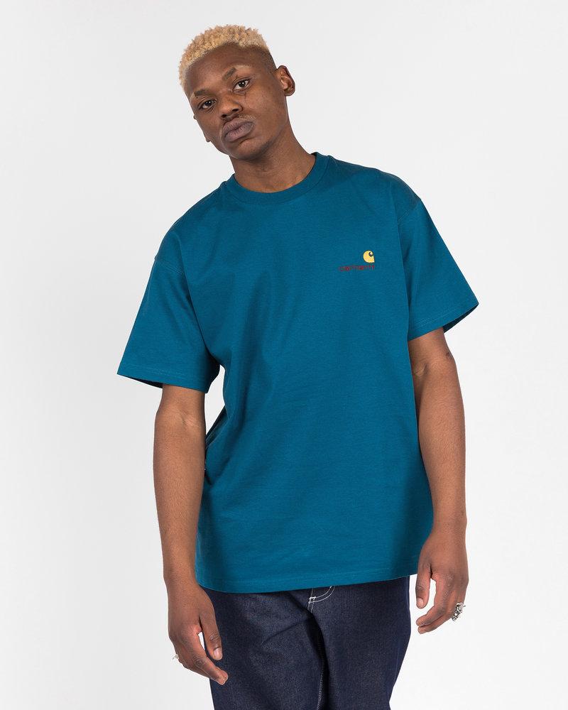 Carhartt Carhartt American Script T-Shirt Cotton Moody Blue