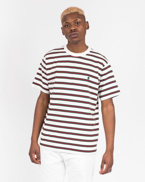 Carhartt Carhartt Oakland Shortsleeve T-Shirt Stripe Wax / Treehouse stripe