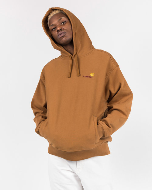 Carhartt Carhartt Hooded American script sweater Hamilton brown