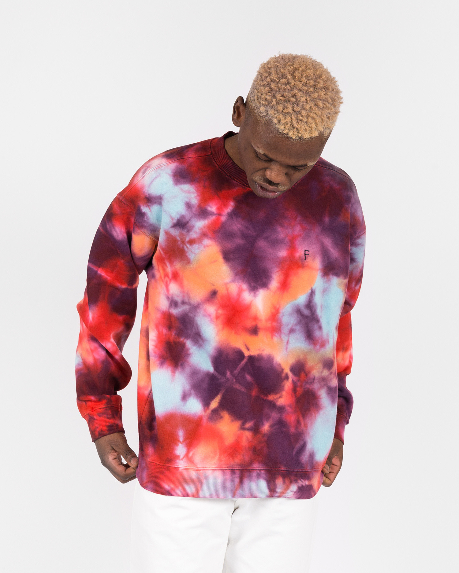 Futur 01Outline G Fit Crewneck Tie dye