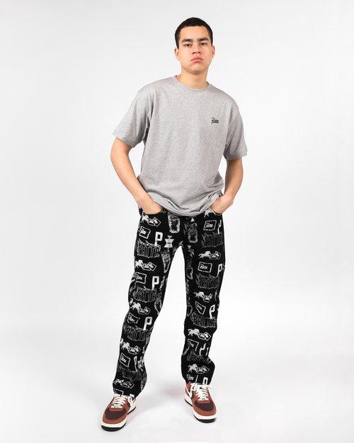 Patta Patta Stamp denim pants black/white