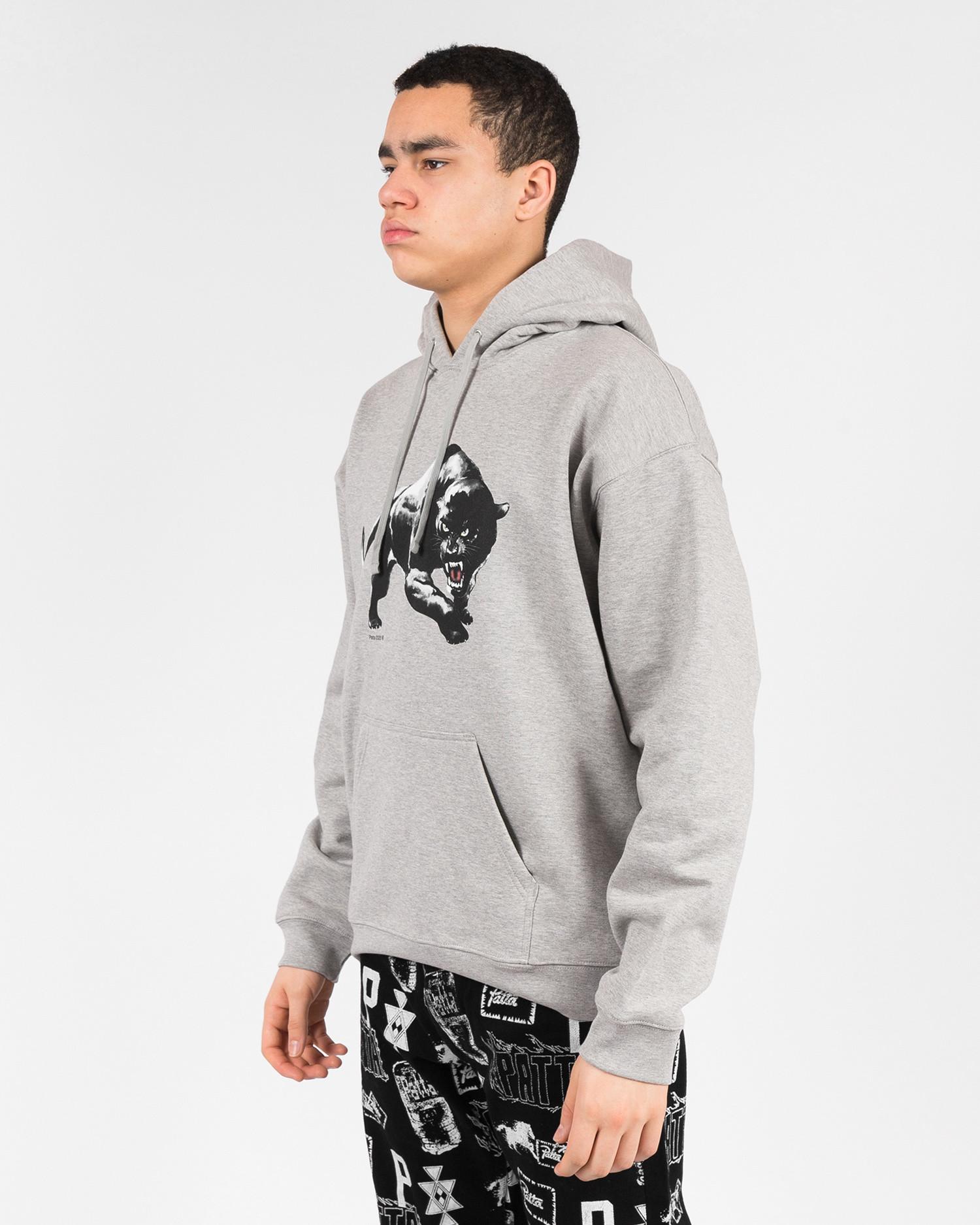 Patta Panther hooded sweater Melange grey