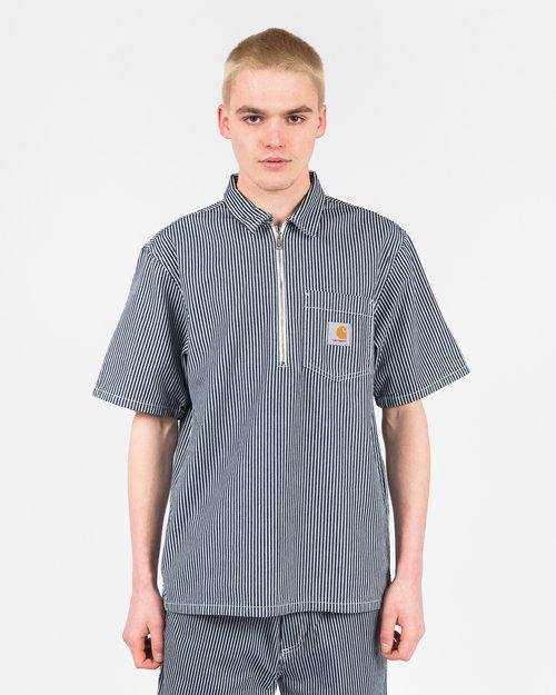 Carhartt Carhartt Shortsleeve Dash Shirt Blue/White Rinsed