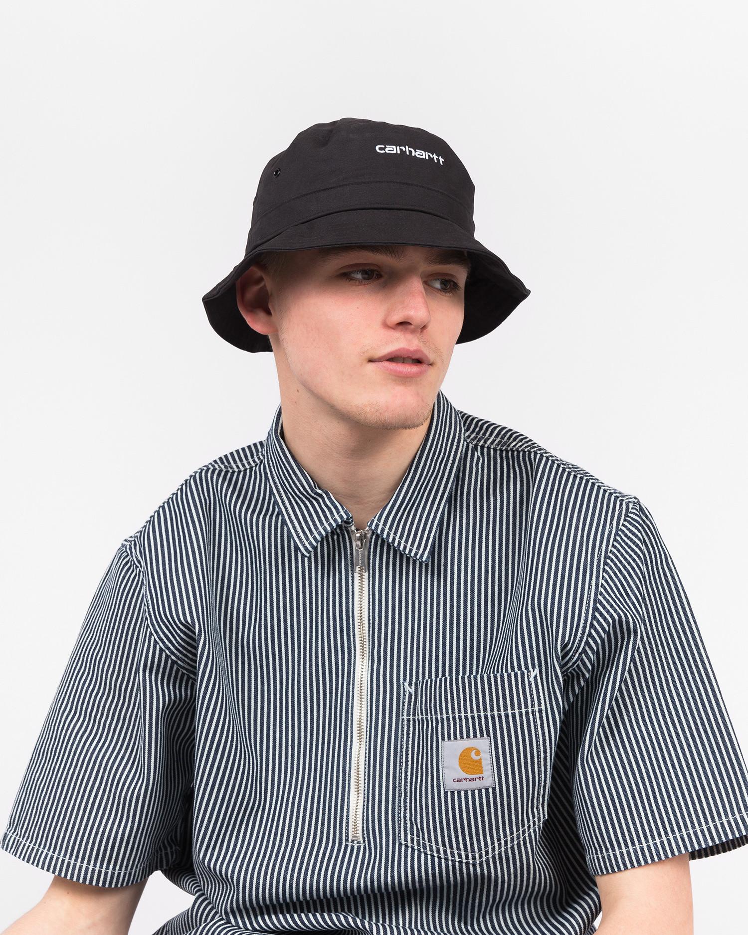 Carhartt Script Bucket Hat Black/White